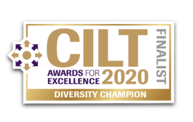 CILT Awards For Excellance 2020 - Diversity Champion Finalist Graphic