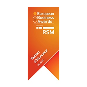 European Business Awards - RSM Ruban d'Honneur