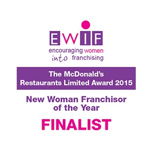 EWIF - encouraging women into franchising. The Woman Franchise of the Year