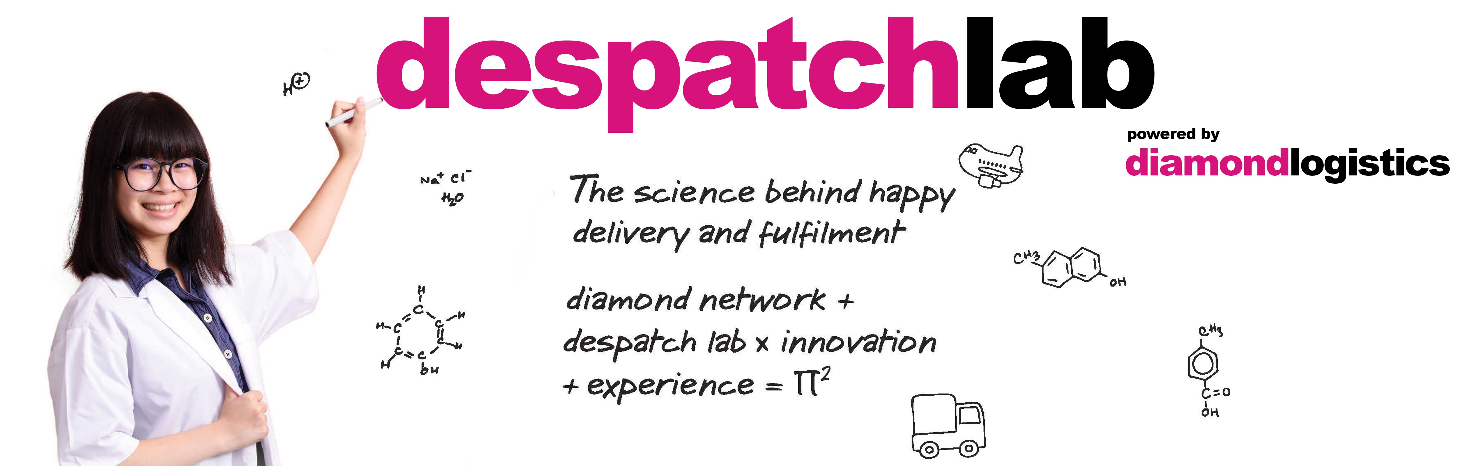 The science behind happy delivery and fulfilment. diamond network + despatchlab X innovation + experience = Profit